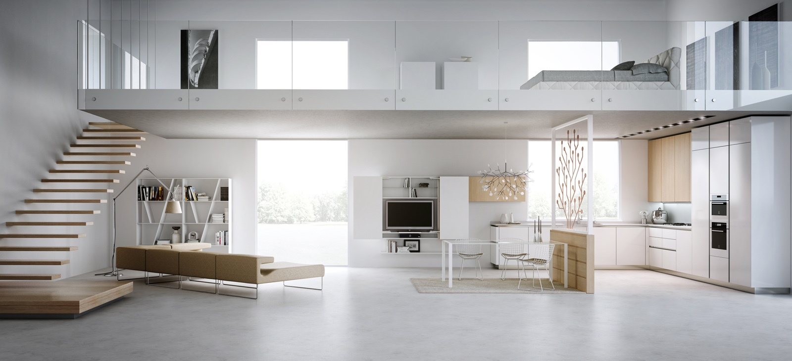 Perfect Modern Loft Design 1600 x 730 · 254 kB · jpeg