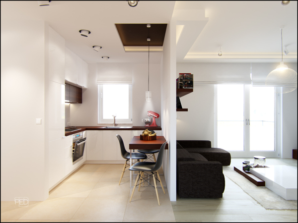 Small Spaces: A 40 square meter (430 square feet) Apartment [