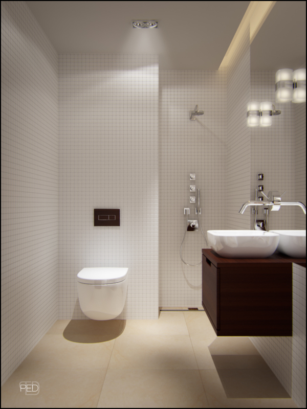 Small spaces a 40 square meter 430 square feet - Bathroom shower designs small spaces ...