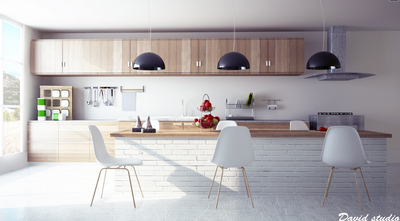 Impressive White Wood Modern Kitchen 1318 x 728 · 222 kB · jpeg