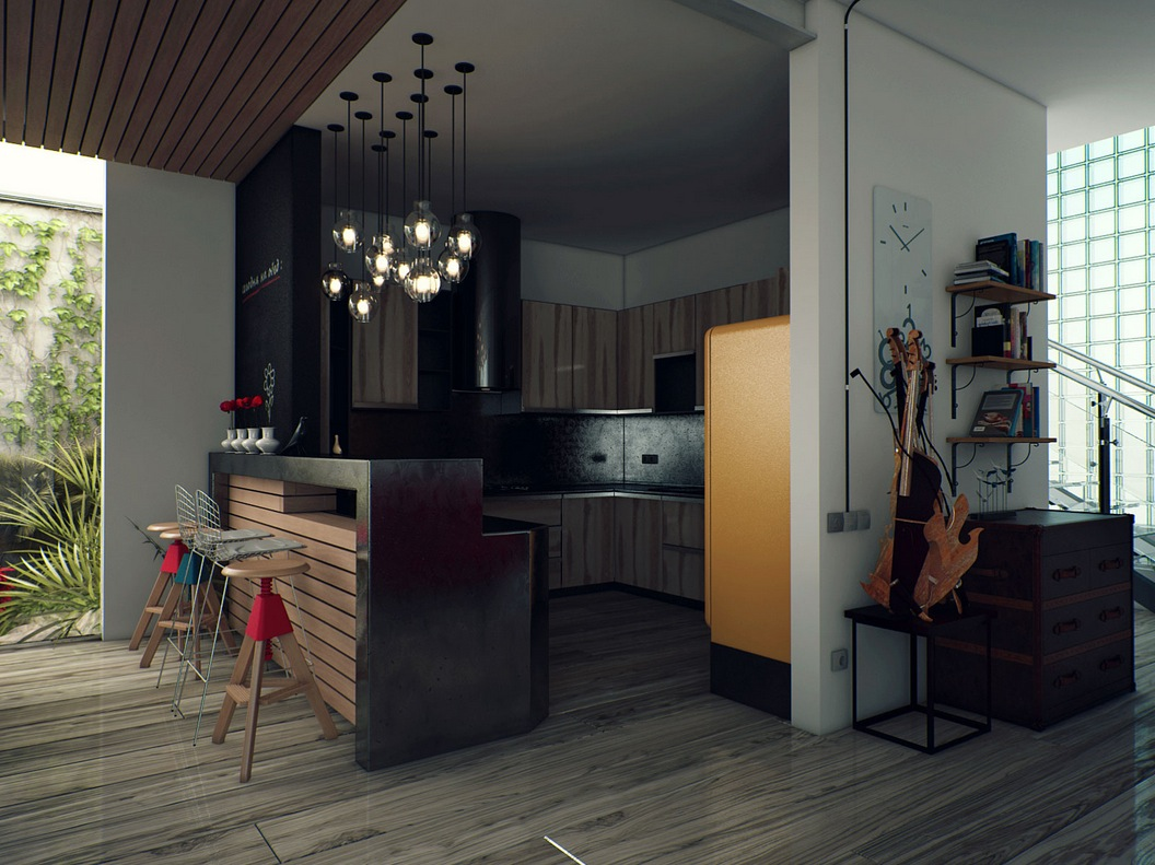 1000 images about kitchen on pinterest for Kitchen design with bar