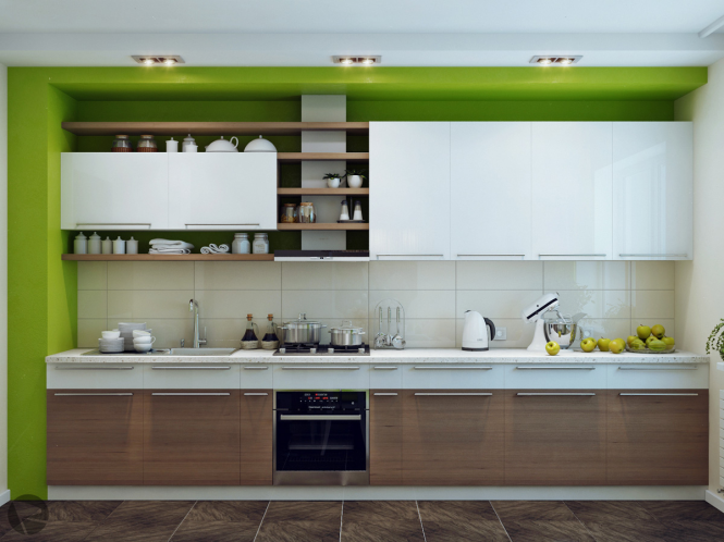 If you are someone who goes through frequent style phases, evolving your taste with the seasons, then introduce color to your kitchen via the wall color rather than the unit finish to avoid costly revamps later. Keep the cabinets neutral and go mad with the paint instead to allow cheap and cheerful makeovers that can completely change the mood of the room.