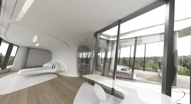 Space age bedroom design