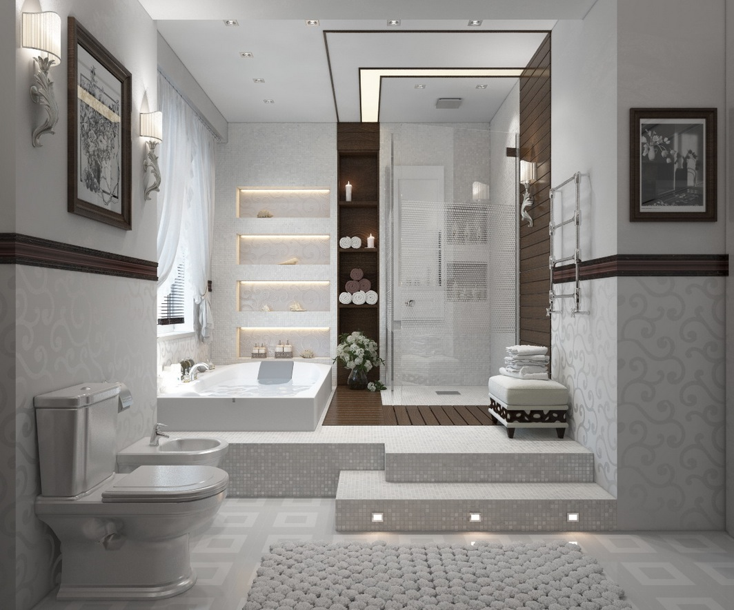 Impressive Modern Contemporary White Bathroom 1064 x 885 · 223 kB · jpeg