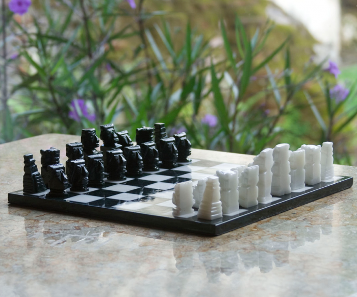 Mayan Style Chess Set:  Maybe their calendar didn't work past 2012, but not this chess set! (Handcrafted from Guatemalan marble)