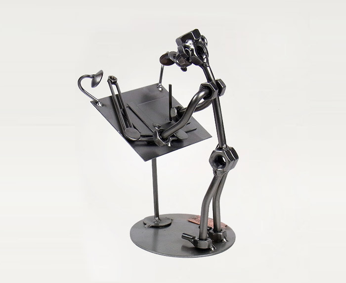 Architect Steel Figurine: How about a beautiful steel figurine that would help them creatively show off their profession?
