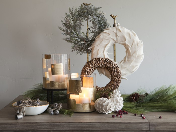 Wreaths shouldn't be relegated to the front door only. This Christmas centerpiece shows just how lovely the results will be when one goes out on limb in their approach to decorating.