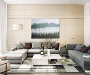 Lounge Room Interior Design on Light Filled Contemporary Living Rooms