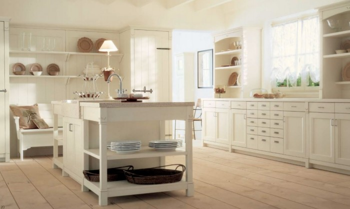 cream country kitchen decor