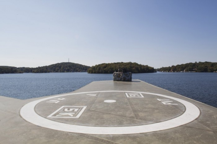 frank lloyd wright heart island helipad