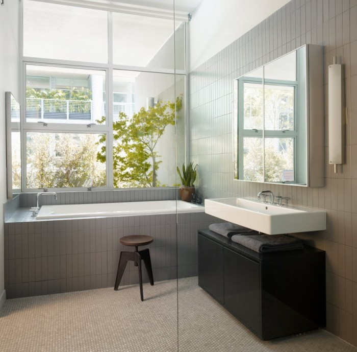 modern bathroom grey