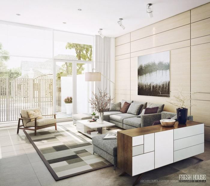 modern neutral living room decor ideas