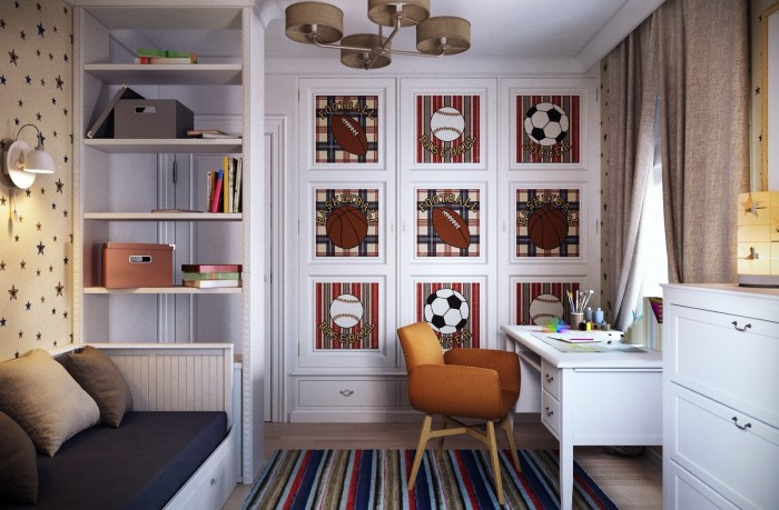 traditional boys room