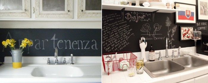 black board backsplash