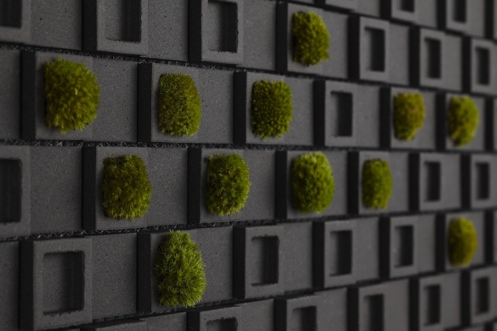 living wall tiles such as these not only bring a natural element to