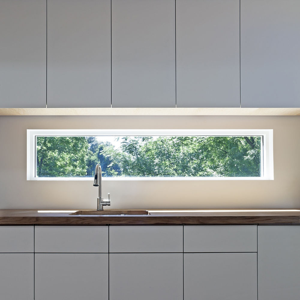 Glass Window Backsplash