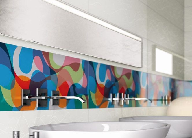 graphic backsplash retro mod