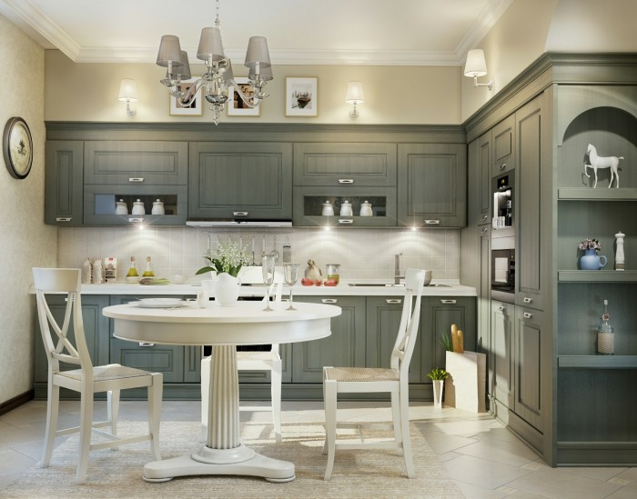 The natural and ambient lighting of this kitchen warm the grey and soften the white creating an inviting place to linger.