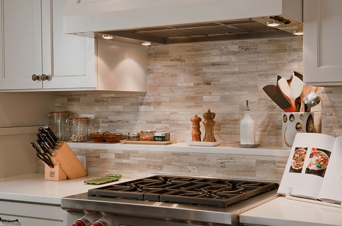 marble tile backsplash neutrals
