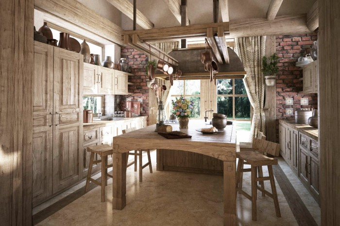 The oversized kitchen island provides a wonderful place to prepare meals or have an intimate conversation with a loved one.