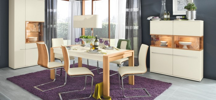 white modern dining furniture