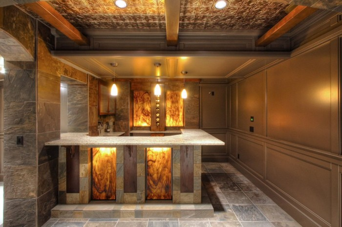 For those that love to entertain, this funky basement bar is the answer.
