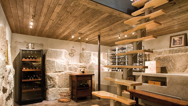 This basement space shows it doesn't take a lot of square feet to create a wine cellar of stellar proportions.