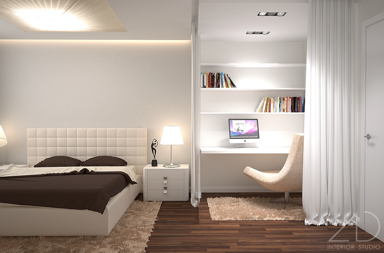 Modern bedroom ideas for Bed interior design picture