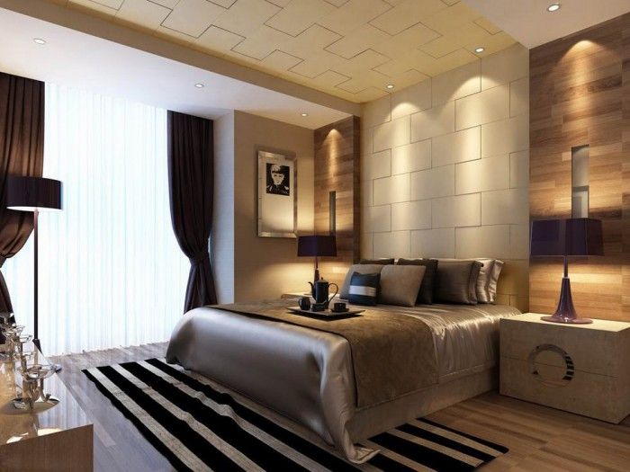downlit textured wall bedroom luxury china