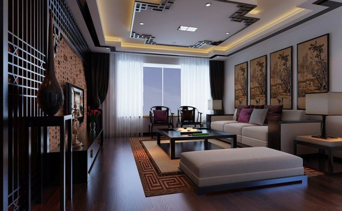 flat screen chinese feature wall modular lounge