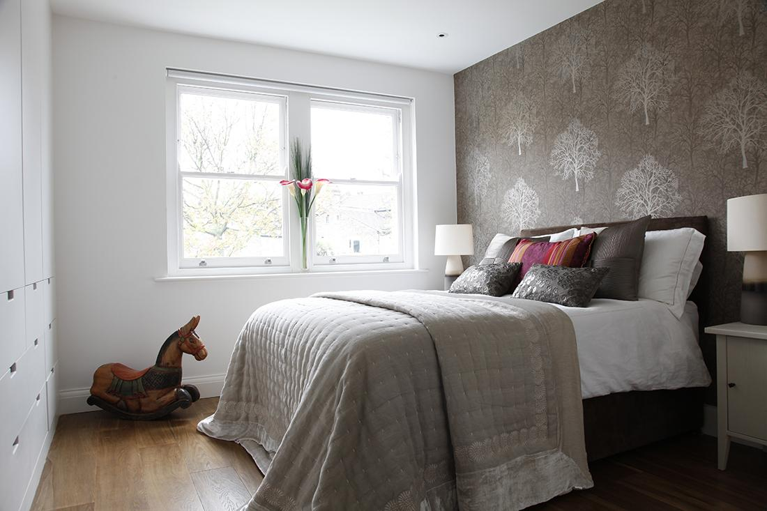 Modern victorian house in london decor and style for Bedroom designs london