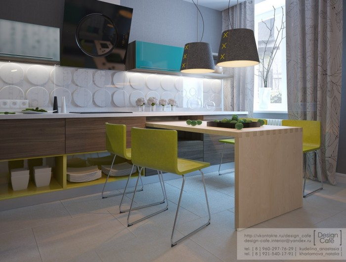 young family apartment kitchen