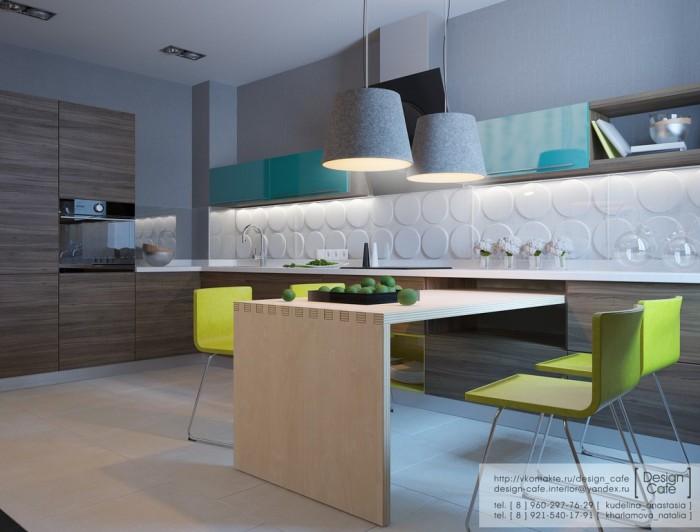 young family apartment kitchen and dining