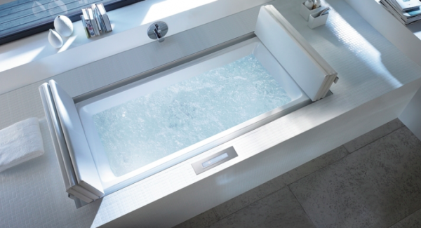 Duravit- White massage space inset window come spa