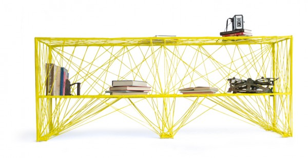 Estudio Pentagono- storage coffee table