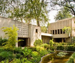 Wright is most famous for a philosophy he coined, 'organic architecture,' aptly represented in the Millard House by his use of concrete blocks as the primary building material. Departing from a purely aesthetic appeal, Wright saw an opportunity to reduce the cost of the build and a noble re-purposing of that, which would have otherwise been relegated to the industrial.