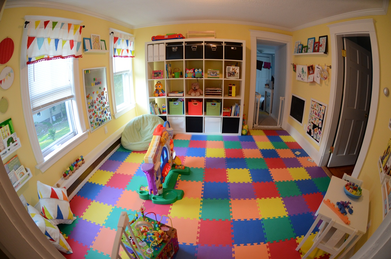 Kids playroom designs ideas for Playroom floor ideas