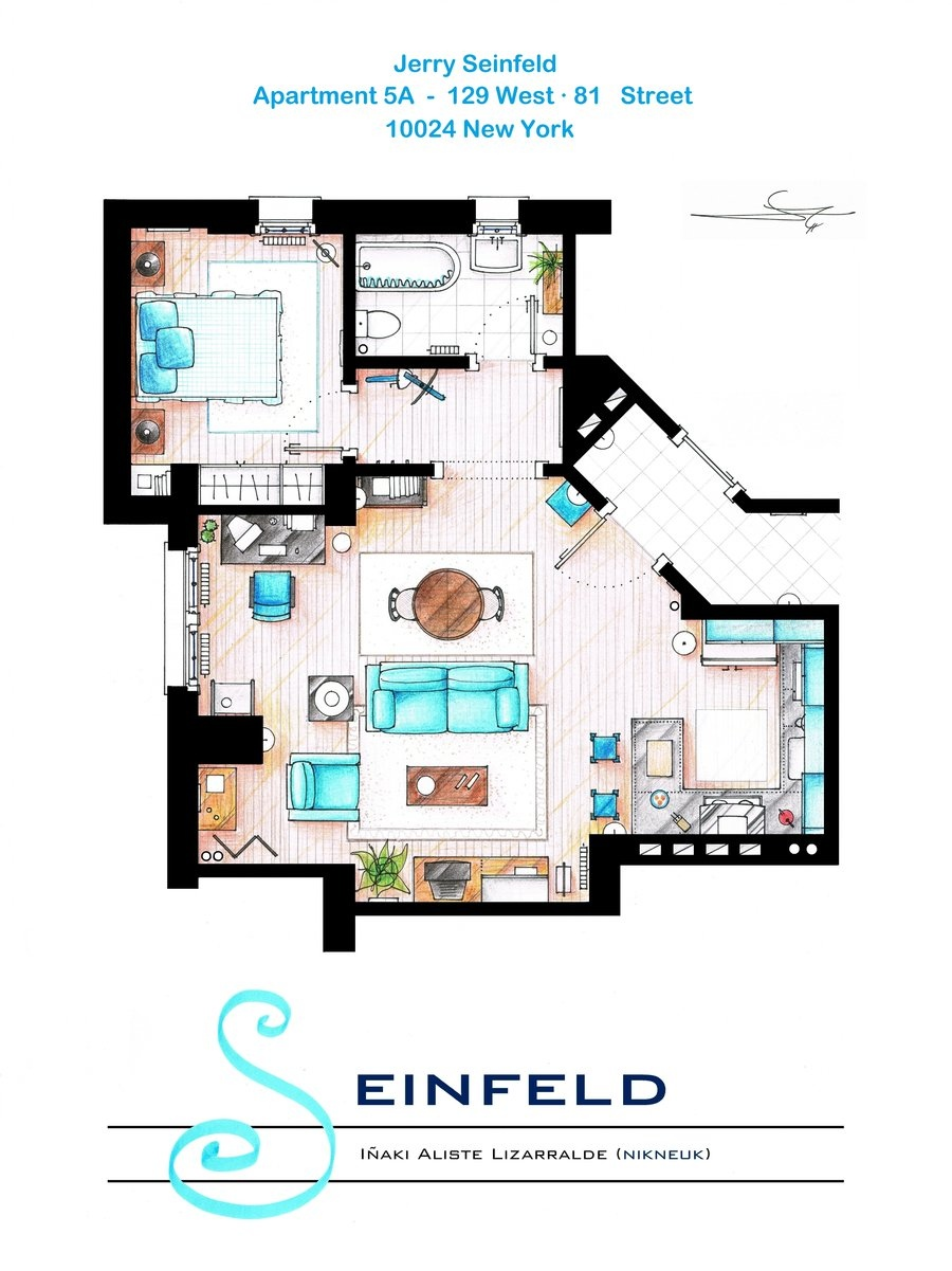 Floor plans of homes from famous TV shows: Interior Design Ideas ...