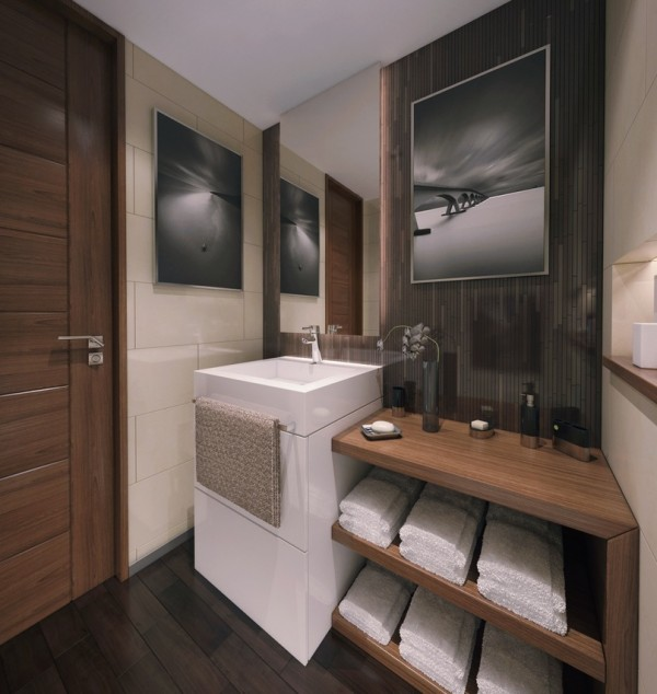 contemporary apartment bathroom 2