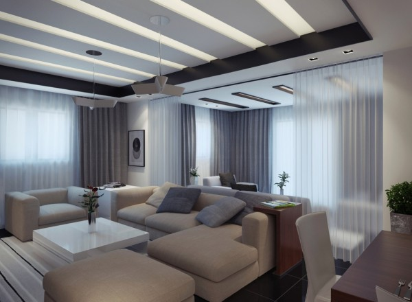 contemporary apartment living room 2