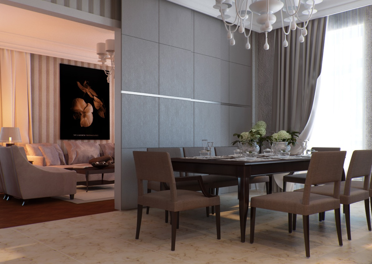 Contemporary dining room for Dining room interior images