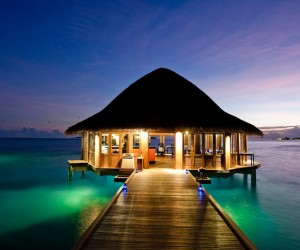 Short of making a reservation for two at Maldivian underwater restaurant, there is little that can compete with an overwater bure. Lengthy jetty access provides the perfect opportunity for a pre or post dinner stroll, traditional thatching overhead creating an exotic authenticity and the sound of gentle waves lapping the foundations amounts to an unforgettably romantic atmosphere.