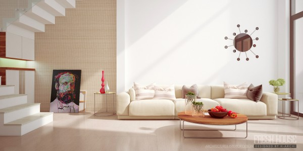 living room beige