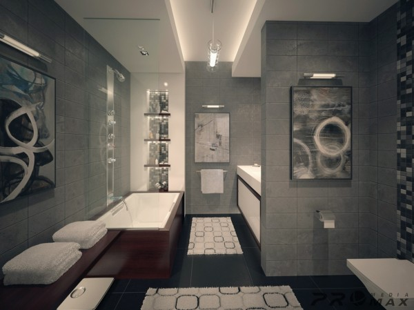 modern apartment 1 bathroom