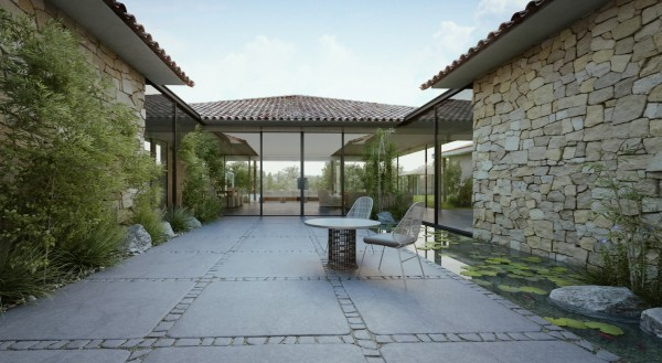 modern cottage courtyard 2