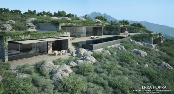 Fertighaus villa mit pool  Corsican Mountain View Villas Visualized