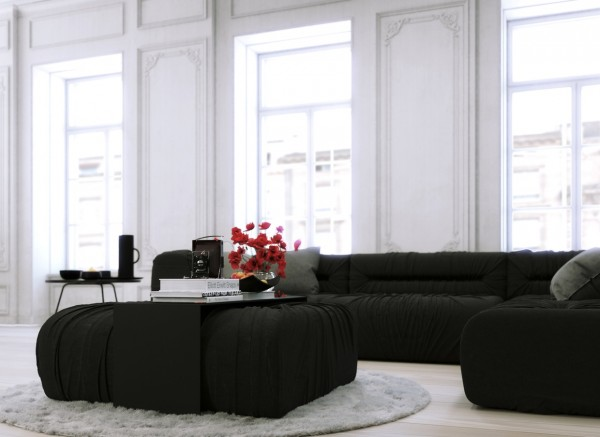 Unlike the spaces previous, this quintessentially Parisian apartment, with its high ceilings and ornate cornicing, diverts from the modern minimalism typically associated with Scandinavia. While retaining a distinctly clean and modern look, it relies on white not for the illusion of size, but for the promotion of natural light that streams in through famously French windows, and for its unrivaled ability to carry old spaces into the 21st Century.