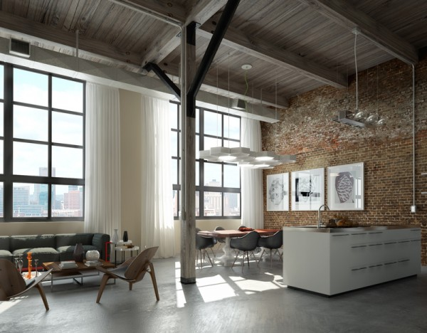 new york studio apartments brick wall - Best Furniture Decor Ideas