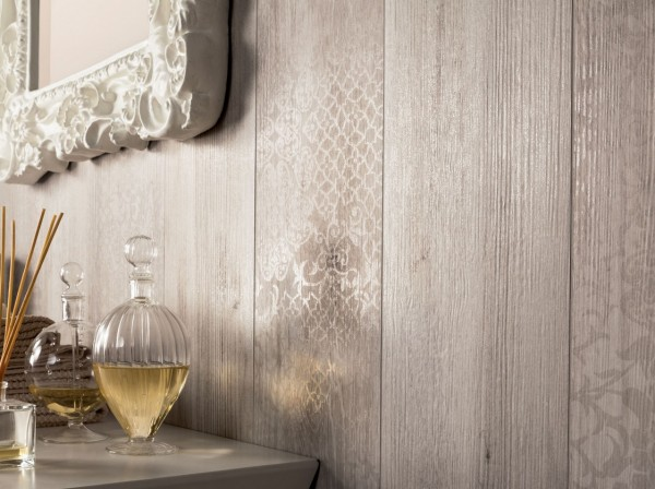light wwoden wall tiles to look like panelling