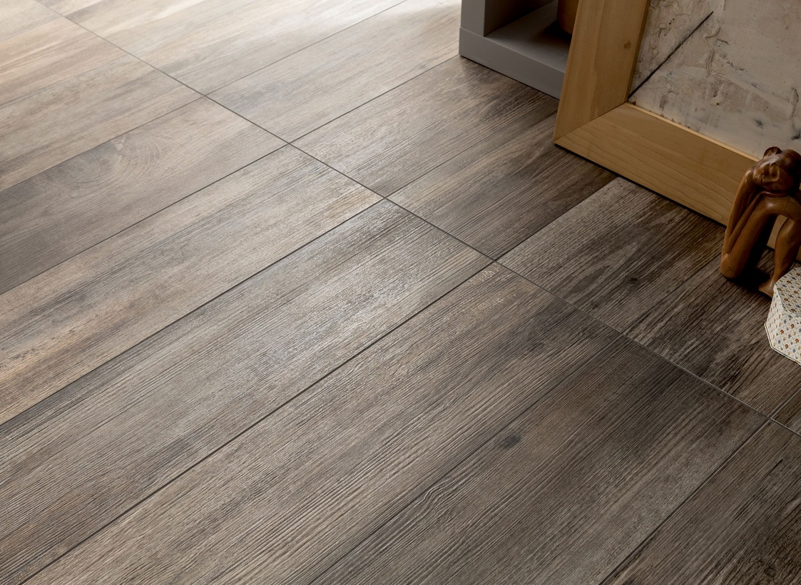 Wood look tiles for Tile and hardwood floor